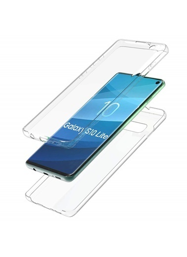 Microsonic Samsung Galaxy S10e Kılıf 6 tarafı tam full koruma 360 Clear Soft Şeffaf Renksiz